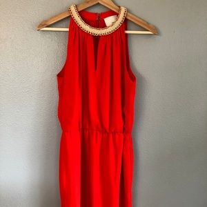 Greylin Red Sleeveless Dress XS